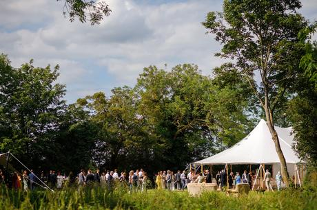 the reception at a summer solstice wedding