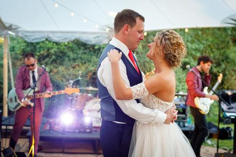 a marquee wedding first dance