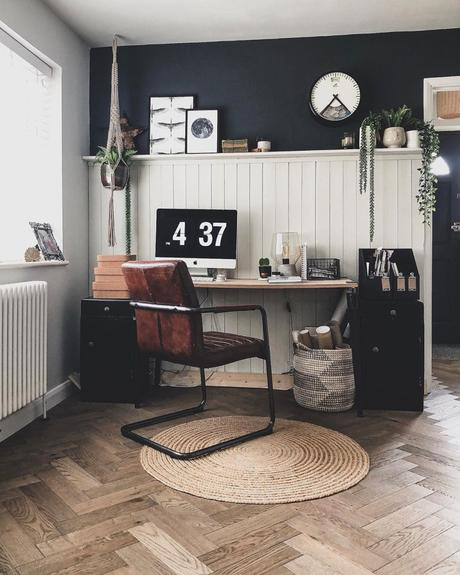 A Milano Windsor white column radiator in a modern home office.