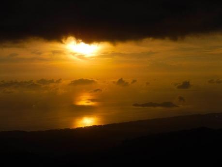 Golden sunset over Mararison Island