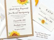 Best Sunflower Wedding Invitations Images 2019