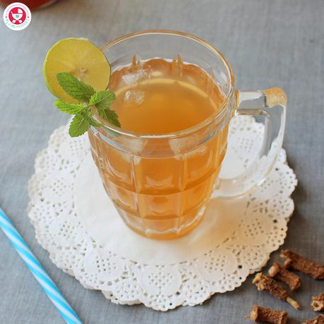 The method to make nannari syrup at home is a bit laborious and time consuming but believe me the end results are worth it. Homemade nannari syrup is far more healthy than the store bought ones. Free of refined sugar, artificial colors and preservatives.