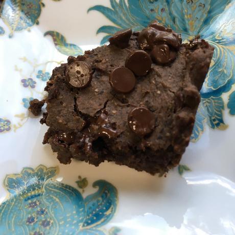 Fudgy Peanut Butter Black Bean Brownies