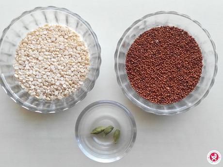 How to make Ragi Urad dal porridge?