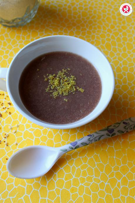 Ragi Urad dal porridge is a healthy and delicious breakfast recipe for babies and growing kids. This calcium and protein rich porridge is very easy to make.