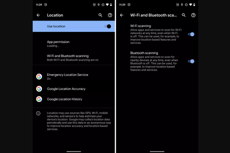 Android Q Location Settings Advanced