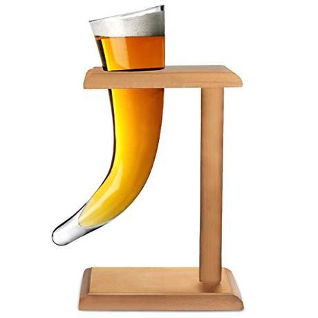 viking horn glass