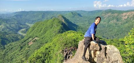 Benjie at the Mt. Hapunang Banoi Summit