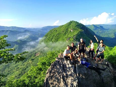 Group shot at Mt. Hapunang Banoi (Michael and friends)