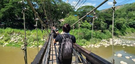 Montalban wooden hanging bridge - mountain gateway