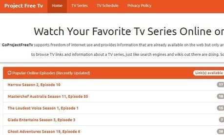 Projectfreetv Alternatives – 10 Website to Watch Movie/TV