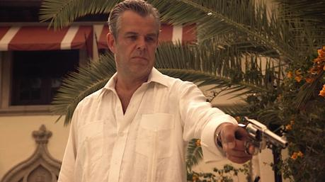 Magic City: Ben the Butcher's White Linen Guayabera
