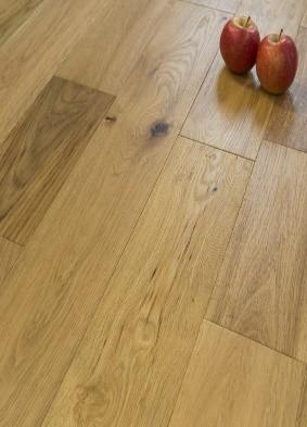 Brushed and Lacquered Wood Flooring