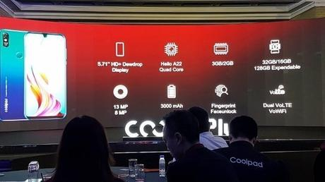 Coolpad Cool 3 Plus: Entry-level smartphone with Dewdrop Display