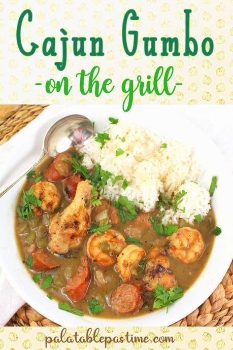Grilled Cajun Style Gumbo #FishFridayFoodies