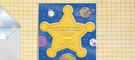 {Paperless Post} Lochlan & Laurel's Birthday Invitations
