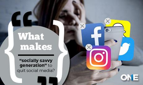 "What makes ""socially savvy generation"" to quit social media"