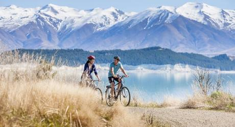 Biking trail near Mount Cook