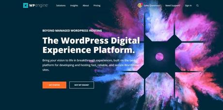 worpdress wp engine review 5 star