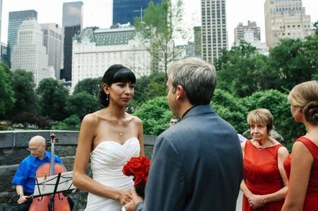 Flor and John's English and Spanish Wedding on Gapstow Bridge