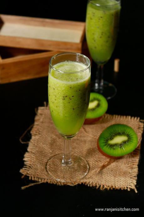 Kiwi fruit juice recipe   How to make kiwi fruit juice