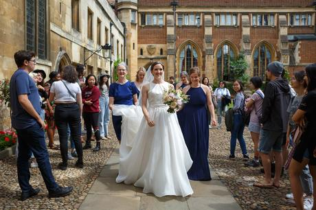 leaving pembroke college to go to the ceremony