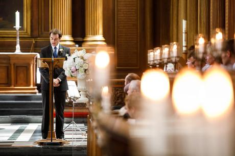 a reading during a cambridge college wedding ceremony