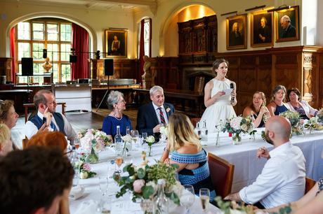 the brides speech in pembroke college