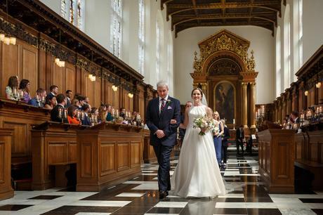 leaving a cambridge college wedding ceremony