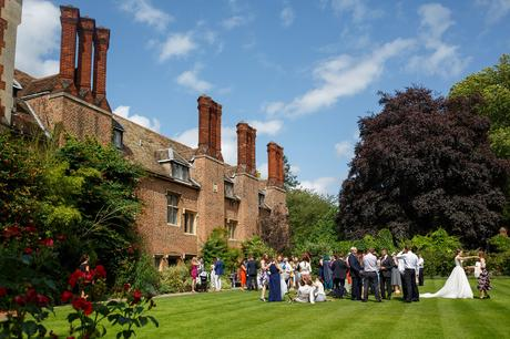 the wedding reception at pembroke college