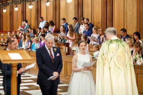 hymns during a trinity college wedding