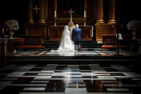 prayers at a trinity college wedding