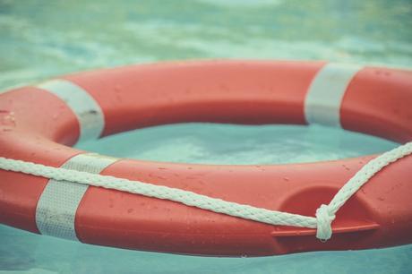 Close-up of a life preserver.