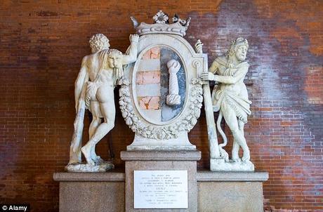 Selfie crazy people ~  crown of historical marble statue of Hercules broken