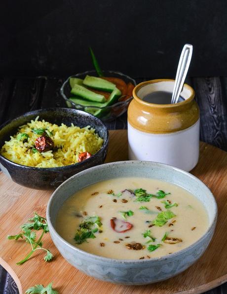 Gujarati Kadhi Recipe,How To Make Gujarati Kadhi