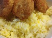 Make Your Version Salted Rice (topped with Chopped Chicken Nuggets)
