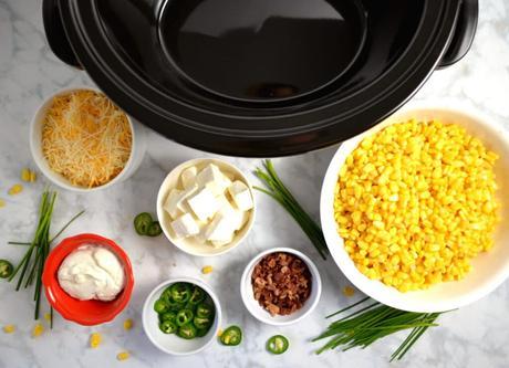 Slow Cooker Creamy Jalapeno Corn Dip
