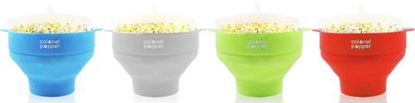 What's Poppin'!: Colonel Popper Silicone Microwave Popcorn Popper