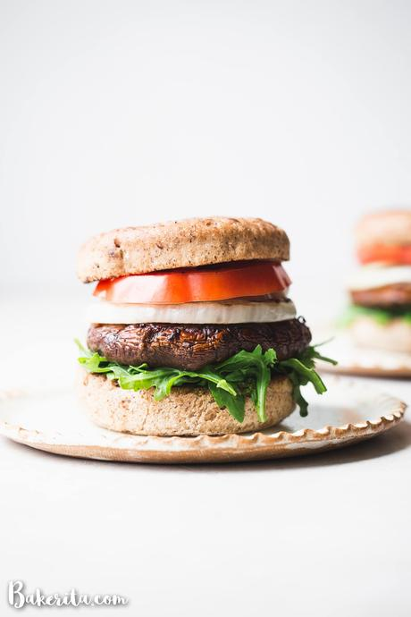 These Vegan Grilled Portobello Mushroom Burgers are packed with umami flavors thanks to the scrumptious marinade. When piled high with additions like grilled onions and vegan pesto, it's a burger you'll want to make every weekend. The grilled portobello mushrooms are also perfect as a side dish all on their own.