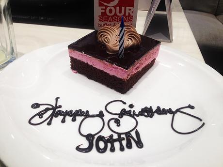 Free birthday cake at Four Seasons