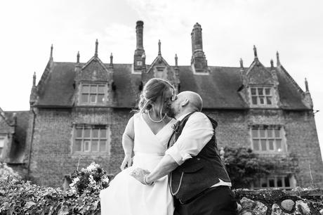 kissing in front of hautbois hall