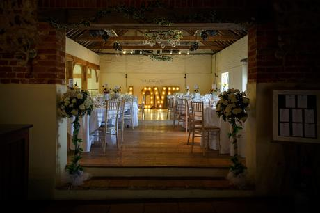 the dining room at a hautbois hall wedding