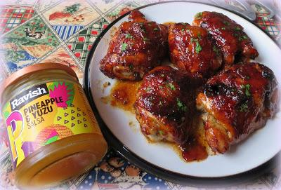 Sticky BBQ Chicken Thighs