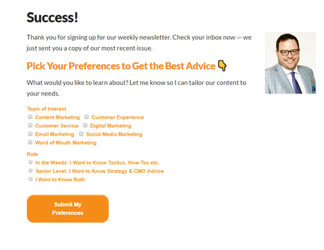 Convince and Convert Blog Email Subscription Form