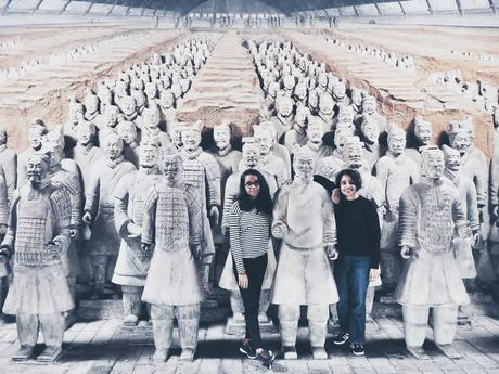 Hanging out with Terracotta Warriors