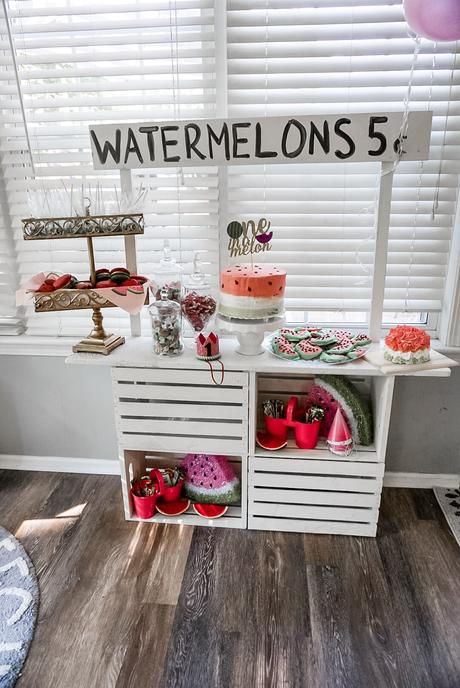 DIY watermelon stand for photoshoot
