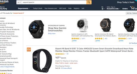 Amazon Xiaomi Band 4
