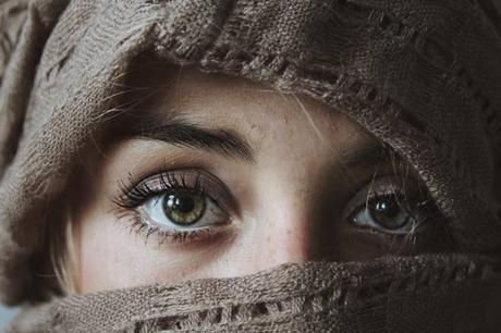 attarctive lady eyes