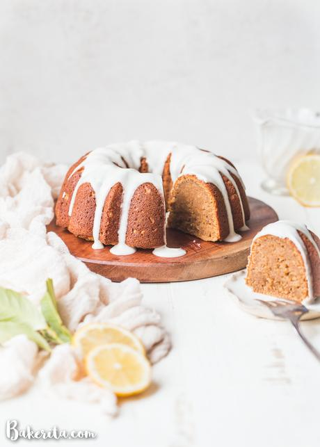 You'll love this easy-to-make Gluten-Free Vegan Lemon Cake! It is simple and elegant with a moist & airy crumb. To top it all off, we drizzle this paleo & refined sugar-free cake with a tangy lemon drizzle.