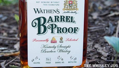 Label for the Wathen's Barrel Proof